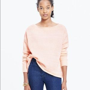 Madewell | Peach Threadmix Boatneck Sweater